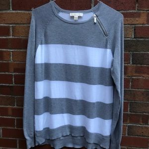 Micheal Kors striped sweater with zipper